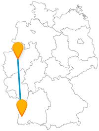 Mit dieser Reise im Fernbus von Dortmund nach Freiburg kann es auch hoch hinausgehen.