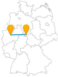 Mit dem Fernbus zwischen Dortmund und Göttingen können Sie einen besonderen Brunnen und eine Liesel entdecken.