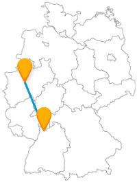 Mit dem Fernbus von Dortmund nach Heidelberg fahren Sie zu einer sehenswerten Brücke.
