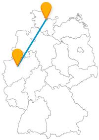 Reisen Sie mit dem Fernbus von Dortmund nach Kiel und haben Sie einen entspannten Aufenthalt an der Ostsee.