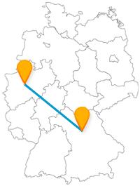 Die Reise im Fernbus von Dortmund nach Nürnberg bringt Sie von einer Aussichtsplattform in 140 Metern zu einer dreischiffigen Basilika.