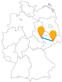 Eine Fahrt mit dem Fernbus zwischen Dresden und Halle lohnt sich nicht nur zur Weihnachtszeit.