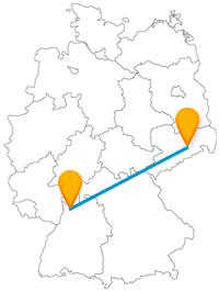 Architektur und Bauten stehen auf der Reise mit dem Fernbus von Dresden nach Heidelberg im Vordergrund.