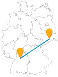 Auf Ihrer Fernbusreise zwischen Dresden und Heilbronn sind weite Naturlandschaften dabei.