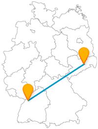 Erleben Sie auf der Reise mit dem Fernbus von Dresden nach Karlsruhe Architektur vom Feinsten.