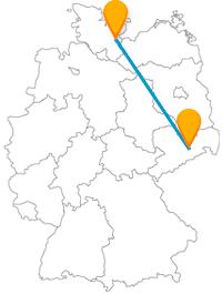 Machen Sie mit dem Fernbus zwischen Dresden und Lübeck eine Busfahrt zu Kabinette und Stadttore.