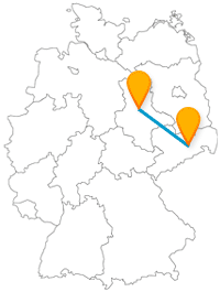 Ob Wohntürme oder Terrasse, der Fernbus zwischen Dresden und Magdeburg ermöglicht beides.