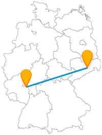 Entdecken Sie mit dem Fernbus zwischen Dresden und Mainz Elbschlösser und 25.000 Jahre alte Relikte.