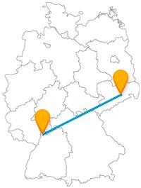 Entdecken Sie mit dem Fernbus zwischen Dresden und Mannheim zwei große Flüsse Deutschlands.