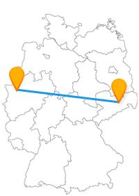 Mit dem Fernbus Dresden Oberhausen kommen Sie in einen Zwinger oder in ein sehr großes Einkaufszentrum.