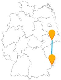 Mit dem Fernbus von Dresden nach Passau gelangen Sie ins Drei-Flüsse-Eck.