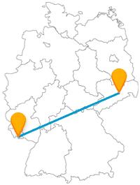 Von Ost nach West bringt Sie der Fernbus von Dresden nach Saarbrücken.
