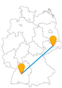 Lebhaft und beschaulich kann es bei der Fernbusreise von Dresden nach Tübingen zugehen.