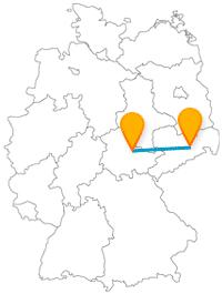 Der Fernbus von Dresden nach Weimar schickt Sie in die Vergangenheit.