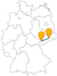 Führt die Reise mit dem Fernbus von Dresden nach Zwickau vielleicht über eine silberne Straße?