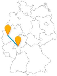 Der Fernbus Düsseldorf Frankfurt am Main bringt Sie zu historisch und kulturelle interessanten Attraktionen.