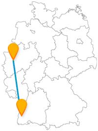 Ob Karneval oder nicht, die Fahrt mit dem Fernbus zwischen Düsseldorf und Freiburg lohnt sich immer.