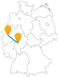 Besichtigen Sie auf der Fernbusreise zwischen Düsseldorf und Gießen ganz verschiedene Dinge.