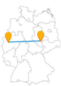 Lernen Sie mit dem Fernbus von Düsseldorf nach Halle Händels Originalhandschrift kennen.