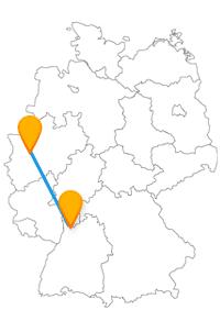 Auf Ihrer Fernbusreise zwischen Düsseldorf und Heidelberg können Sie auch hoch hinaus.
