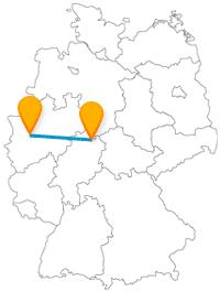 Besichtigen Sie mit der Fahrt im Fernbus zwischen Düsseldorf und Kassel schöne Burgen und Schlösser.