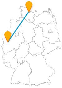 Genießen Sie nach Ihrer Fernbusreise von Düsseldorf nach Kiel die Förde an der Meeresluft.