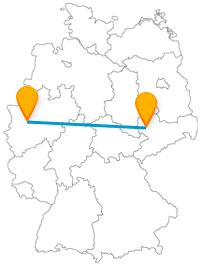 Mit einer Fahrt im Fernbus zwischen Düsseldorf und Leipzig verbinden Sie gut Ost und West Deutschlands.
