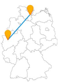 Gönnen Sie sich mit der Fernbusfahrt zwischen Düsseldorf und Lübeck ein bisschen abwechslungsreichen und süßen Luxus.