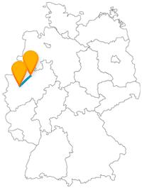 Die Reise mit dem Fernbus von Düsseldorf nach Münster könnte vor Ort auch mit dem Fahrrad fortgesetzt werden.