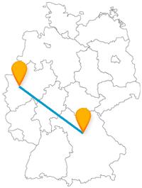 Ob ans Wasser oder auf die Burg, die Fahrt mit dem Fernbus zwischen Düsseldorf und Nürnberg lohnt sich immer.