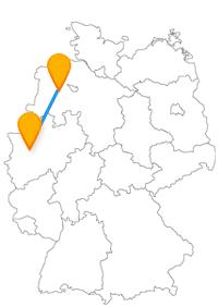 Lassen Sie sich auf Ihrer Reise mit dem Fernbus zwischen Düsseldorf und Oldenburg von vielen Attraktionen überraschen.