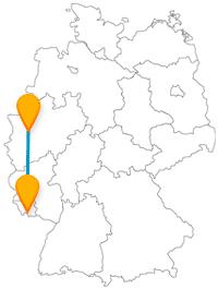 Die Reise im Fernbus zwischen Düsseldorf und Saarbrücken kann schnell zur Shopping-Tour oder römischen Zeitreise werden.