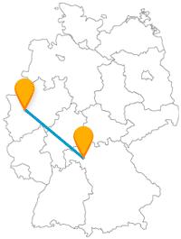 Kunst, Historie oder Natur - Die Reise mit dem Fernbus zwischen Düsseldorf und Würzburg bedient verschiedene Geschmäcker.