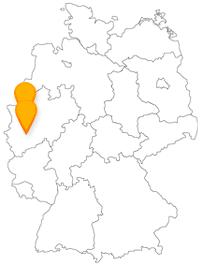 Mit dem Fernbus von Duisburg nach Köln geht es von einer Industriestadt in eine Faschingshochburg.