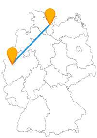Sieben Türme und ein Explorado für Kinder erwarten Sie nach der Ankunft mit dem Fernbus Duisburg Lübeck.