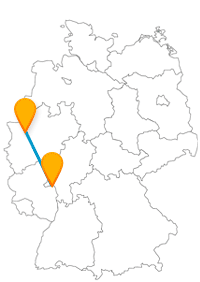 Gemütlicher Hafen- oder Altstadtbummel stehen auf der Reise mit dem Fernbus Duisburg Mainz meist auf dem Programm.
