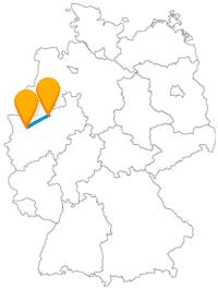 Die Fahrt mit dem Fernbus von Duisburg nach Münster kann zu einer Radtour werden.