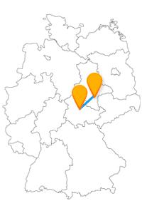 Machen Sie nach der Fahrt im Fernbus zwischen Erfurt und Halle eine gemütliche Stadtbesichtigung.
