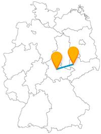 Die Fahrt im Fernbus von Erfurt nach Leipzig führt Sie zu einem Völkerschlachtdenkmal.