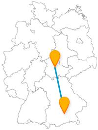 Mit dem Fernbus von Erfurt nach München wird es eine kulturell-kulinarisch interessante Reise.