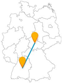 Auch für Autofans ist die Reise im Fernbus von Erfurt nach Stuttgart lohnenswert.