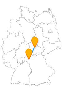Die Reise im Fernbus Erfurt Würzburg zeigt viele Sehenswürdigkeiten auf.
