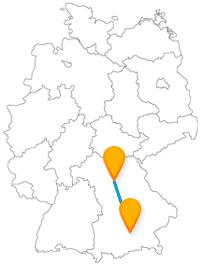 Ob Orangerie oder Geo-Zoo, die Reise mit dem Fernbus zwischen Erlangen und München ist abwechslungsreich.