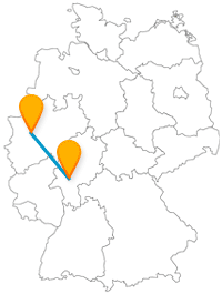 Die Fahrt mit dem Fernbus zwischen Essen und Frankfurt eignet sich hervorragend als Shoppingtour.