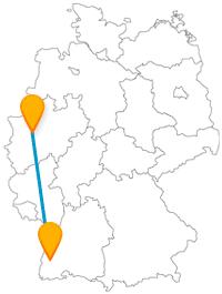 Nach der Reise im Fernbus zwischen Essen und Freiburg können Sie gemütliche und historische Rundgänge genießen.