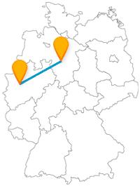 Die Reise mit dem Fernbus zwischen Essen und Hannover ist gut zum Shoppen oder für Burgbesichtigungen.