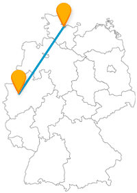 Die Reise mit dem Fernbus von Essen nach Kiel bringt Sie in die Hauptstadt Schleswig-Holsteins.