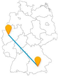 Mit dem Fernbus München Essen von Bayern direkt ins Ruhrgebiet reisen.