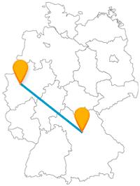Wandern oder einfach Spazierengehen? Auch dafür lohnt sich eine Fahrt im Fernbus zwischen Essen und Nürnberg.