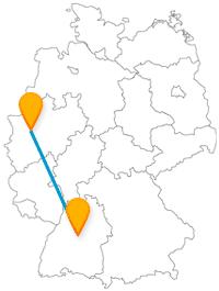 Interessieren Sie Gartenbau und Schlossanlagen? Der Fernbus zwischen Essen und Stuttgart bringt Sie wohin Sie wollen.
